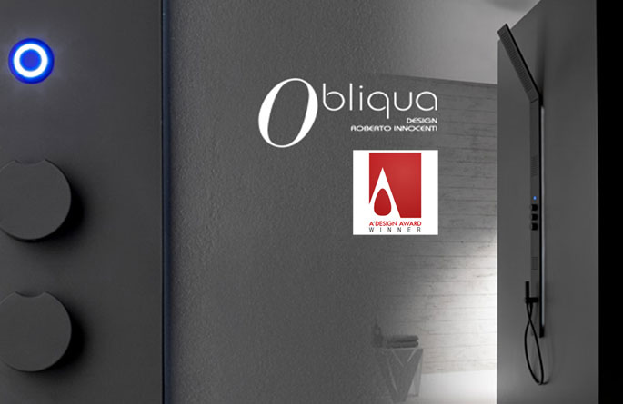 OBLIQUA wins the A'Design Awards Bathroom Furniture and Sanitary Ware Design Category