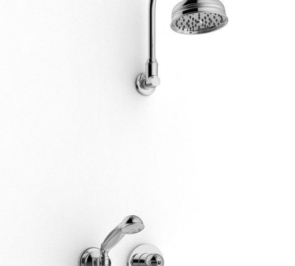 Brazo de ducha con ducha y ducha de mano