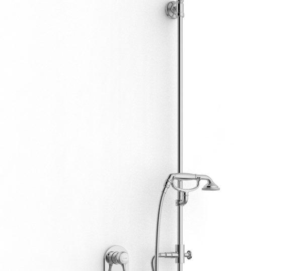 Built-in shower set