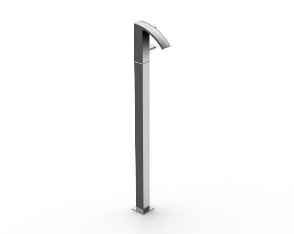 Mitigeur lavabo monte sur colonne