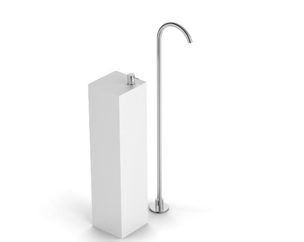 Washbasin mixer on top