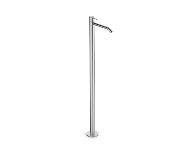 Column-mounted single lever washbasin mixer