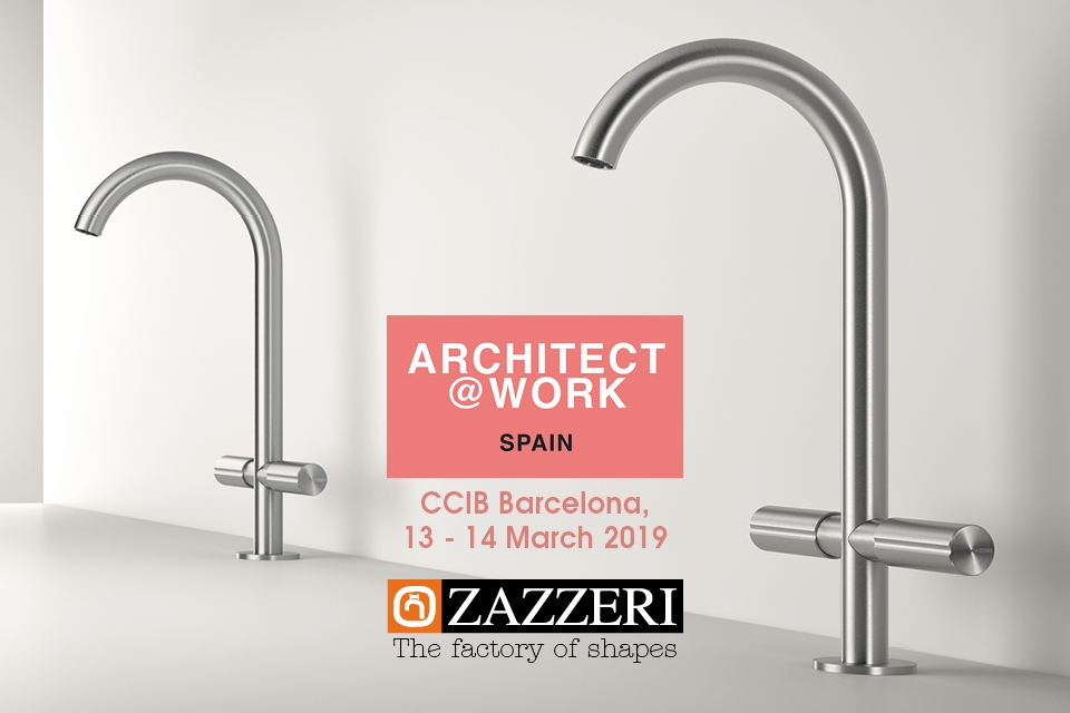 March 13th – 14th 2019 Zazzeri present at Architect @ Work Barcelona