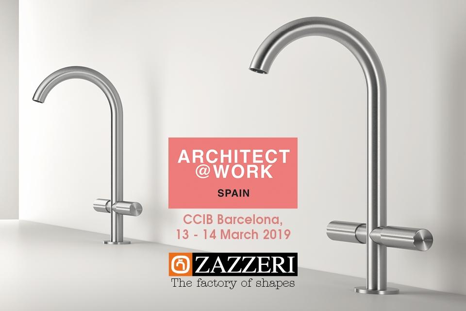 March 13th – 14th 2019 Zazzeri present at Architect @ Work Barcelona