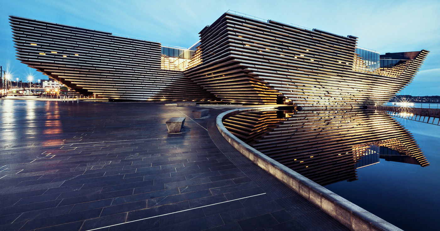 SCOTLAND The Victoria and Albert Museum at Dundee, by Kengo Kuma