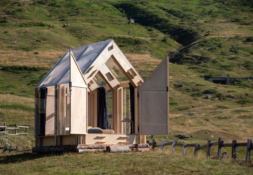 ALPS – ITALY An eco-friendly bivouac for glamping