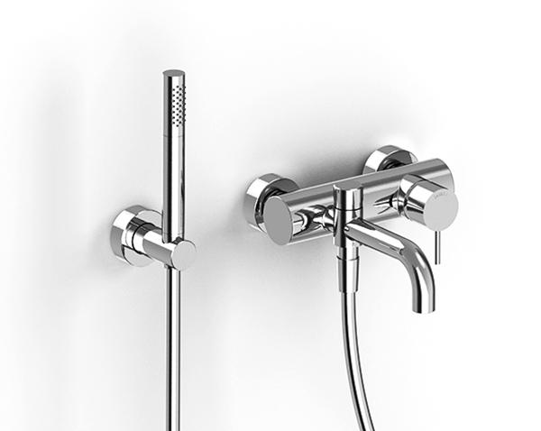 Wall-mounted bathtub set