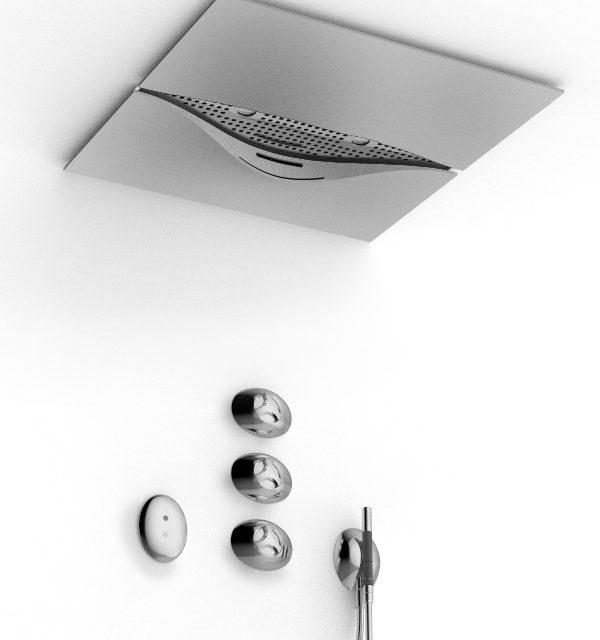 pomme de douche avec cascade et rgb led a couleurs. Black Bedroom Furniture Sets. Home Design Ideas