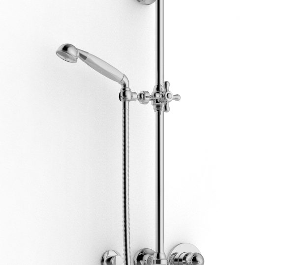 Sliding bar with hand shower