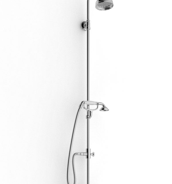 Gruppo doccia vasca esterno rubinetterie zazzeri for Gruppo doccia