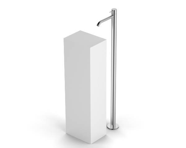 Miscelatore lavabo a colonna da terra