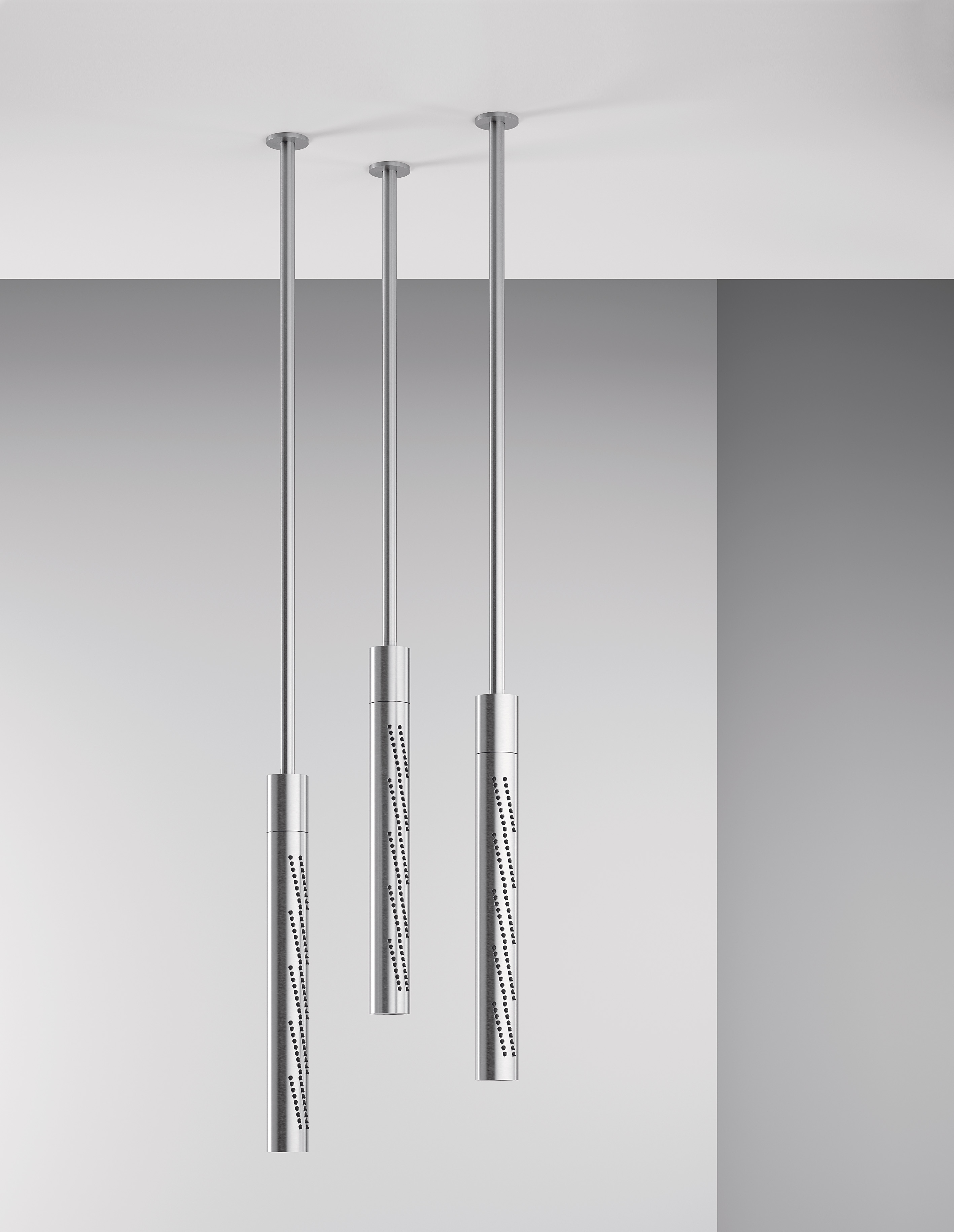 PREVIEW SALONE DEL MOBILE 2018 – Z316 The innovative shower applications with a tubular design – Design Roberto Innocenti